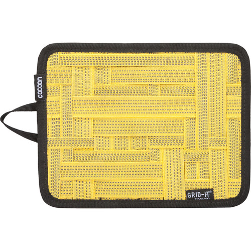 """Cocoon GRID-IT! Small Configurable Organizer for iPad Case (7.25 x 9.25"""", Yellow)"""
