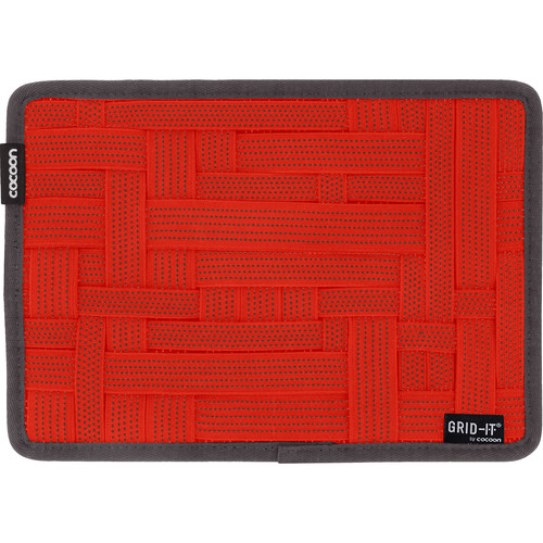 """Cocoon GRID-IT! Medium Configurable Organizer for Laptop Bags & Travel Cases (10.5 x 7.5"""", Racing Red)"""