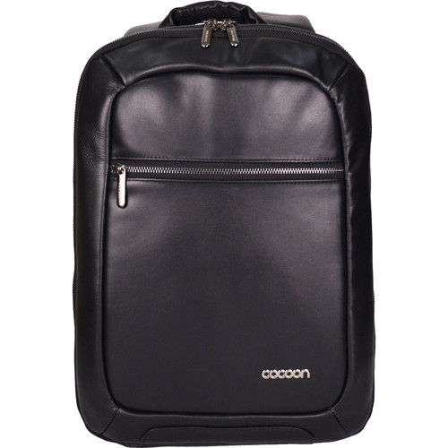 """Cocoon Slim Leather Backpack for Laptop up to 15.6"""" (Black)"""