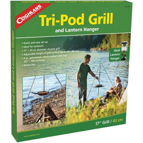 "Coghlan's Tri-Pod Grill & Lantern Hanger-17"" Grill"