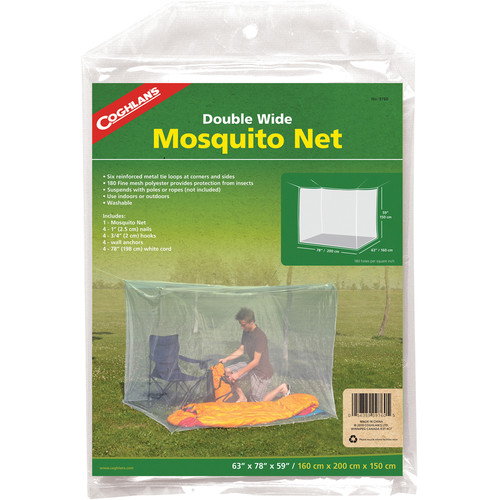Coghlan's Double Wide Mosquito Net (White, 180 Mesh)