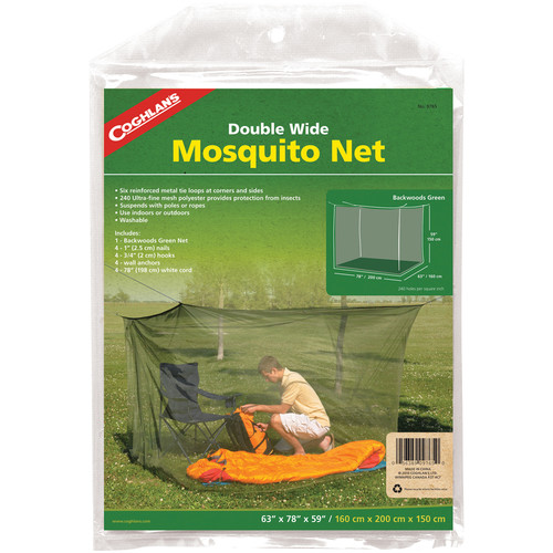 Coghlan's Double Wide Mosquito Net (Green, 240 Mesh)