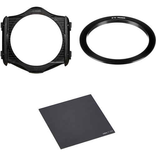 Cokin P Series Filter Holder, 72mm P Series Filter Holder Adapter Ring, and P Series Solid Neutral Density 0.6 Filter (2-Stop) Kit