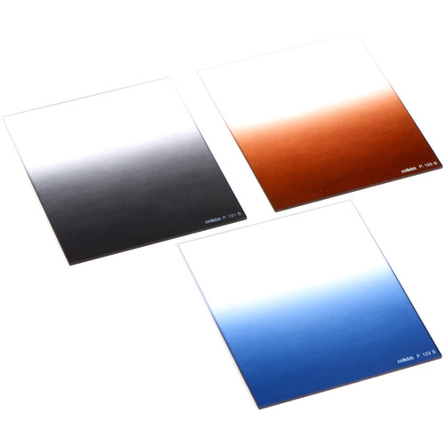 Cokin P Series Soft-Edge Graduated Neutral Density, Blue, and Tobacco Filter Kit