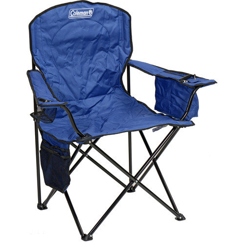 Coleman Oversized Quad Chair with Cooler (Blue)