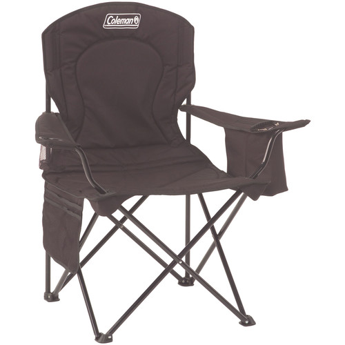 Coleman Oversized Quad Chair with Cooler (Black)