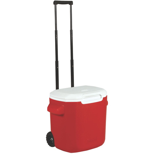 Coleman 16-Quart Performance Wheeled Cooler (Red/White)