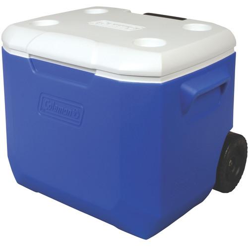 Coleman 60-Quart Performance Wheeled Cooler (Blue/White)