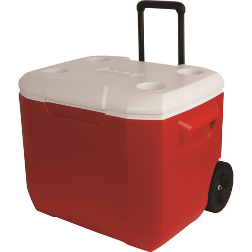 Coleman 60-Quart Performance Wheeled Cooler (Red/White)