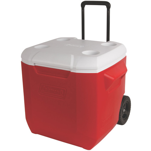 Coleman 45-Quart Performance Wheeled Cooler (Red/White)