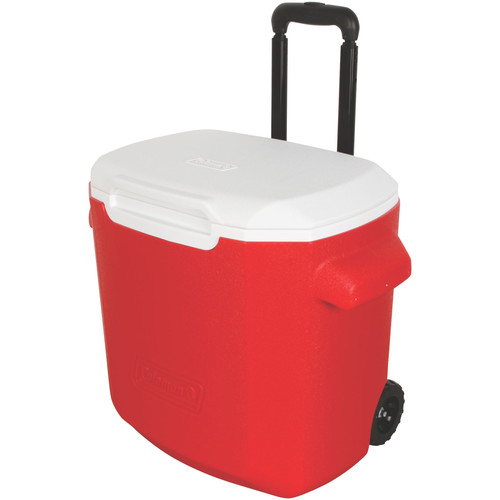 Coleman 28-Quart Performance Wheeled Cooler (Red/White)