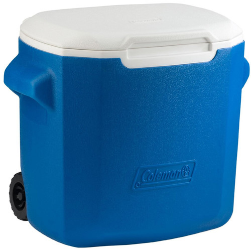Coleman 28-Quart Performance Wheeled Cooler (Blue/White)