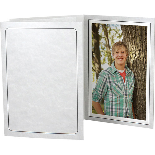 """Collector's Gallery Printed Marble Tru-View Event Folders (Vertical 4 x 6"""" Print, 25-Pack)"""