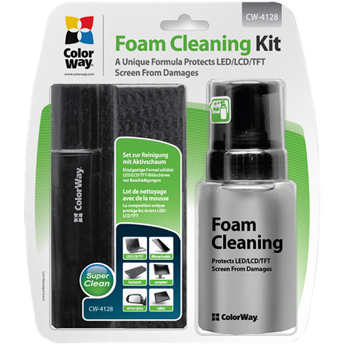 ColorWay Cleaning Kit for Screens (Active-Foam Solution, Brush & Microfiber Wipe)