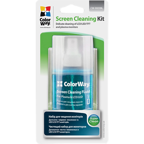 ColorWay Delicate Cleaning Fluid & Microfiber Wipe Kit for Screens