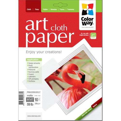 """ColorWay ART Matte Cloth Textured Photo Paper (8.5 x 11"""", 10 Sheets)"""