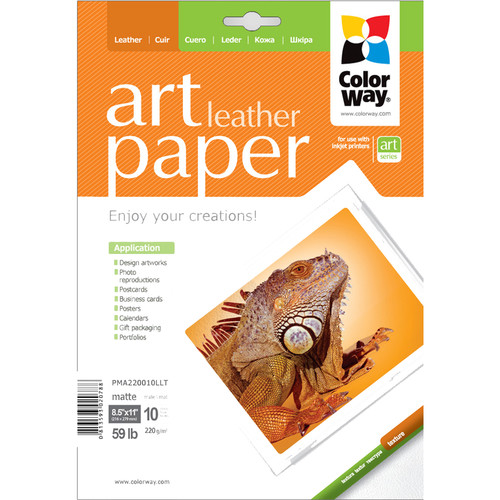 "ColorWay ART Matte Leather Textured Photo Paper (8.5 x 11"", 10 Sheets)"