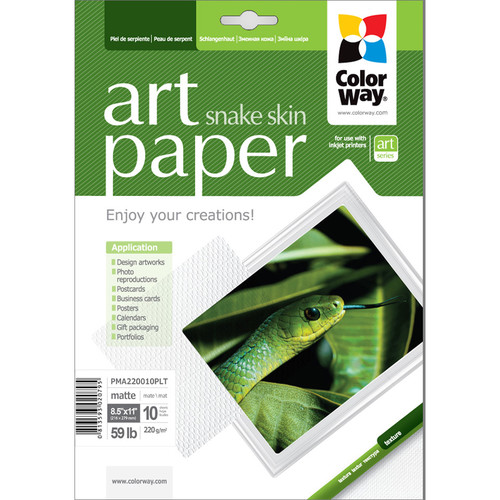 "ColorWay ART Matte Snakeskin Textured Photo Paper (8.5 x 11"", 10 Sheets)"