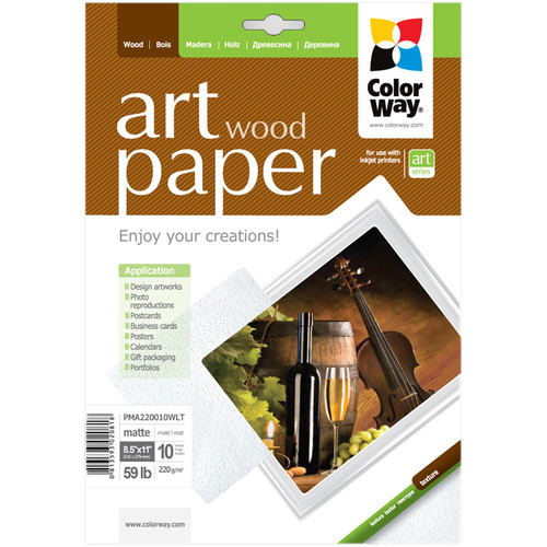 "ColorWay ART Matte Wood Textured Photo Paper (8.5 x 11"", 10 Sheets)"
