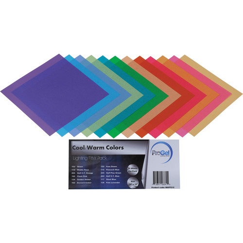 """Pro Gel 12-Piece Cool/Warm Colors Filter Pack (12 x 12"""")"""
