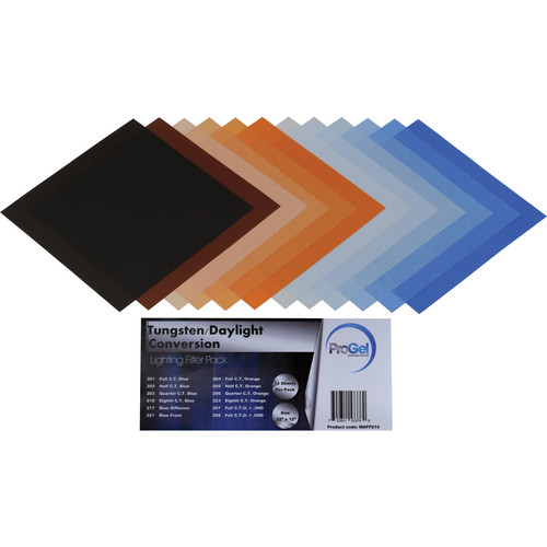 "Pro Gel Tungsten/Daylight Conversion Filter Pack 12 x 12"" (30 x 30 cm)"