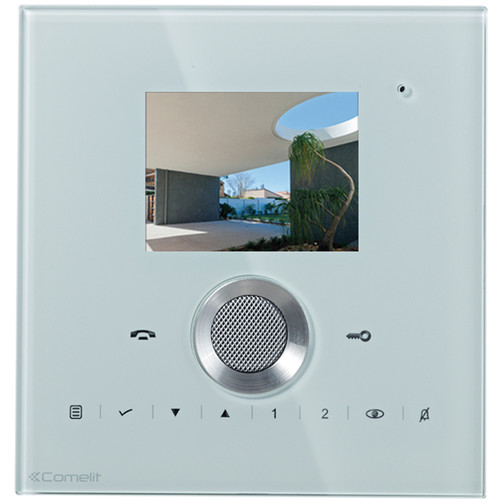 Comelit Planux Series Hands-Free Color Monitor (White)