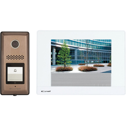 """Comelit HFX-900RS Series 7"""" Touchscreen Video Intercom Kit with Video Recording"""