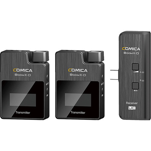 Comica Audio BoomX-D UC2 Ultracompact 2-Person Digital Wireless Microphone System for Android Smartphones (2.4 GHz)
