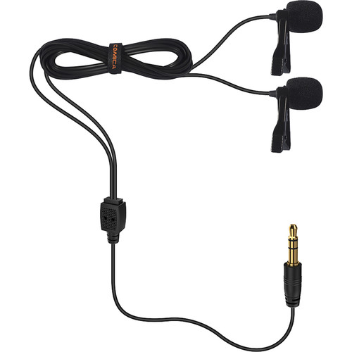 Comica Audio CVM-D02B Dual-Head Omnidirectional Lavalier Microphone
