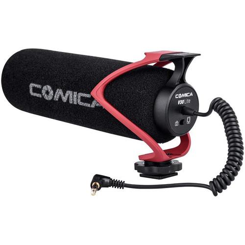 Comica Audio Directional On-Camera Shotgun Microphone (Red)