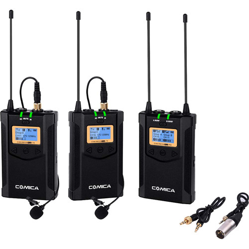 Comica Audio Wireless Dual Microphone System with 1-Receiver