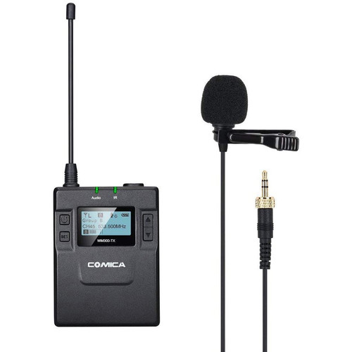 Comica Audio CVM-WM300TX Wireless Bodypack Transmitter with Omni Lavalier Microphone (520 to 578 MHz)