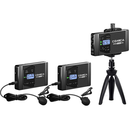 Comica Audio CVM-WS60 COMBO 2-Person Wireless Lavalier Microphone System for Smartphones/Cameras (568.125 to 591.875 MHz)
