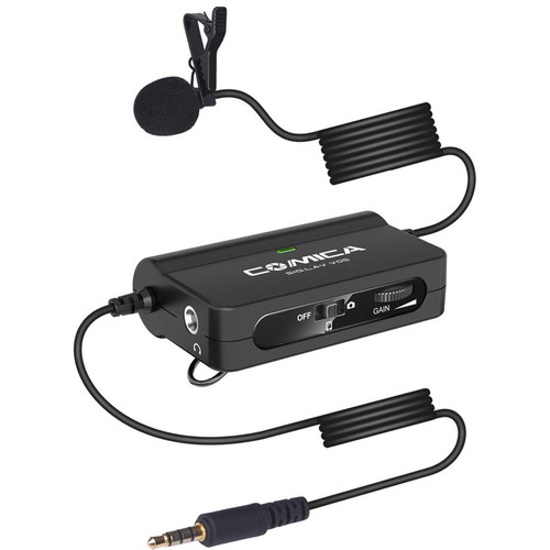 Comica Audio SIG.LAV V05 Omnidirectional Lavalier Microphone with Gain and Monitoring for DSLR Cameras and Smartphones