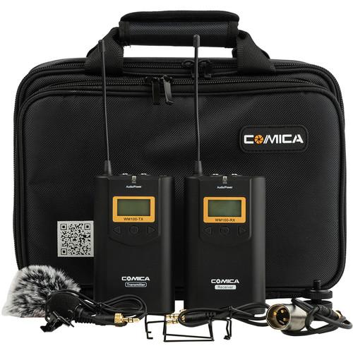 Comica Audio CVM-WM100 Camera-Mount Wireless Omni Lavalier Microphone System (520.0 to 534.1 MHz)