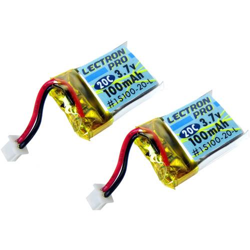 Common Sense RC Lectron Pro 100mAh 3.7V LiPo Battery (2-Pack)
