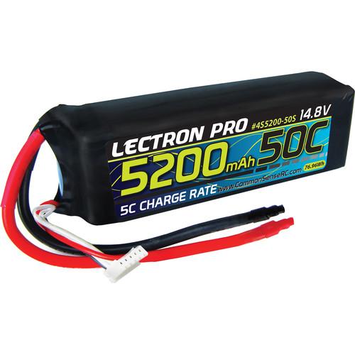 Common Sense RC Lectron Pro 14.8V 5200mAh 50C LiPo Battery