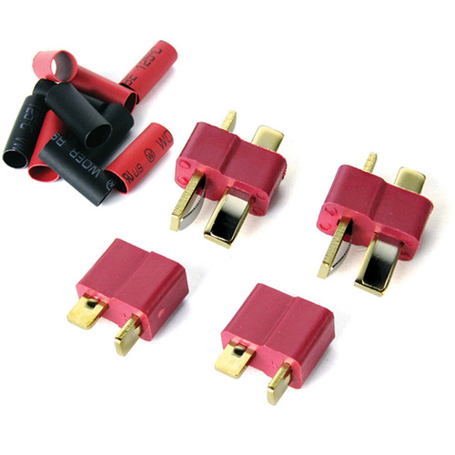 Common Sense RC Deans-Type Connector (4-Pack, 2 Male & 2 Female)