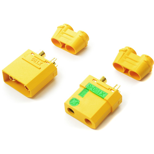 Common Sense RC XT90 Anti-Spark Connectors (One Male & One Female)