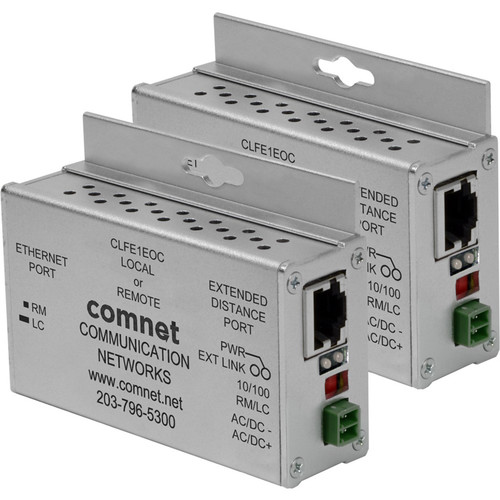 COMNET CLKFE1EOC Copper Kit with 2 CLFE1EOC Ethernet Extender & 2 CAB-CAT5e Cable