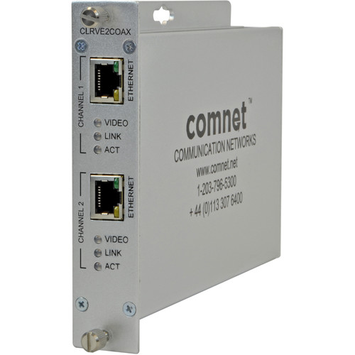COMNET ComFit Dual Channel Analog and IP Video Over Coax Receiver