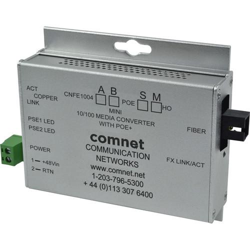 COMNET Multimode 100 Mbps Media Converter with 48V POE (SC, 60W, Mini A)