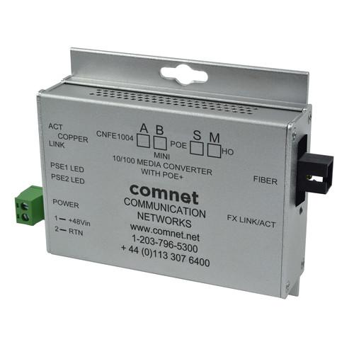 COMNET Multimode 100 Mbps Media Converter with 48V POE (SC, 60W, Mini B)