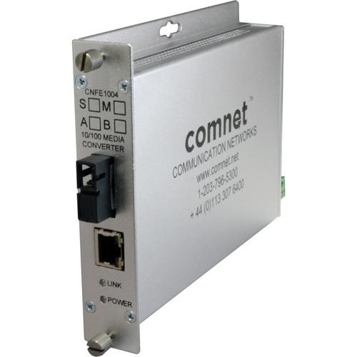 COMNET Single Mode 10/100 Mbps Ethernet 1310/1550nm Standard Mount DC-Only Media Converter (SC Connector, 12 mi)