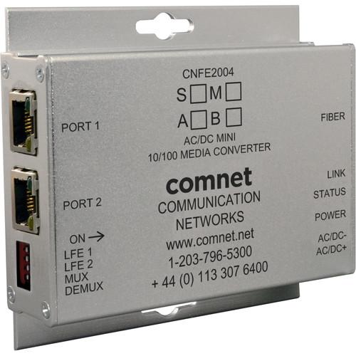 COMNET Mini Multimode 1550/1310nm AC/DC Power Media Converter (SC Connector, Up to 2 mi)
