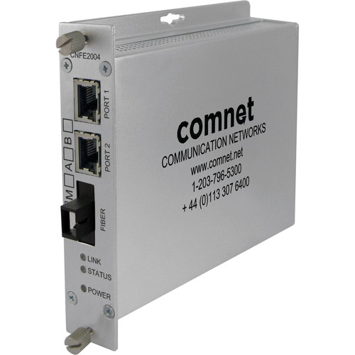 COMNET Single Mode 1310/1550nm AC/DC Power Media Converter (SC Connector, Up to 12 mi)
