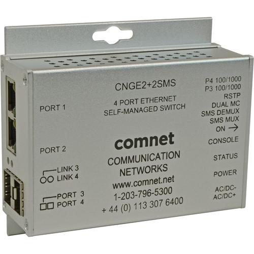 COMNET 10/100/1000 Mb/s Intelligent Redundant Ring Gigabit Switch (4-Port)