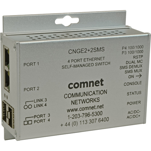 COMNET 10/100/1000 Mbps Intelligent Redundant Ring Gigabit Switch (4-Port)