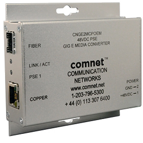 COMNET Small-Sized 2-Port Single-Channel 10/100/1000Mbps Ethernet Media Converter