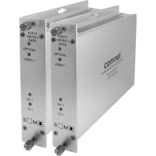 COMNET Video with Return Data Extender Set over Dual Multimode Fibers